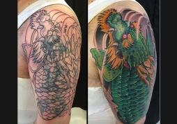 Dragon Koi (Cover up)