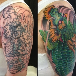 Dragon Koi (Cover up)