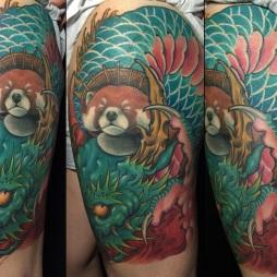 Red Panda And Dragon
