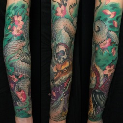 Kitsune Snake Sleeve