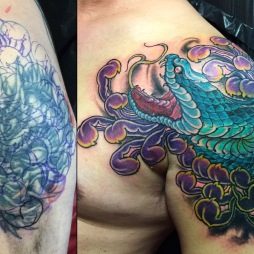 Snake and Chrysnthemum Cover up