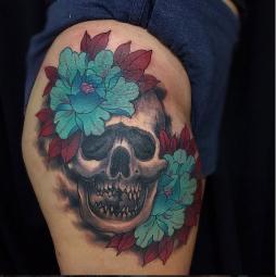 Skull peonies